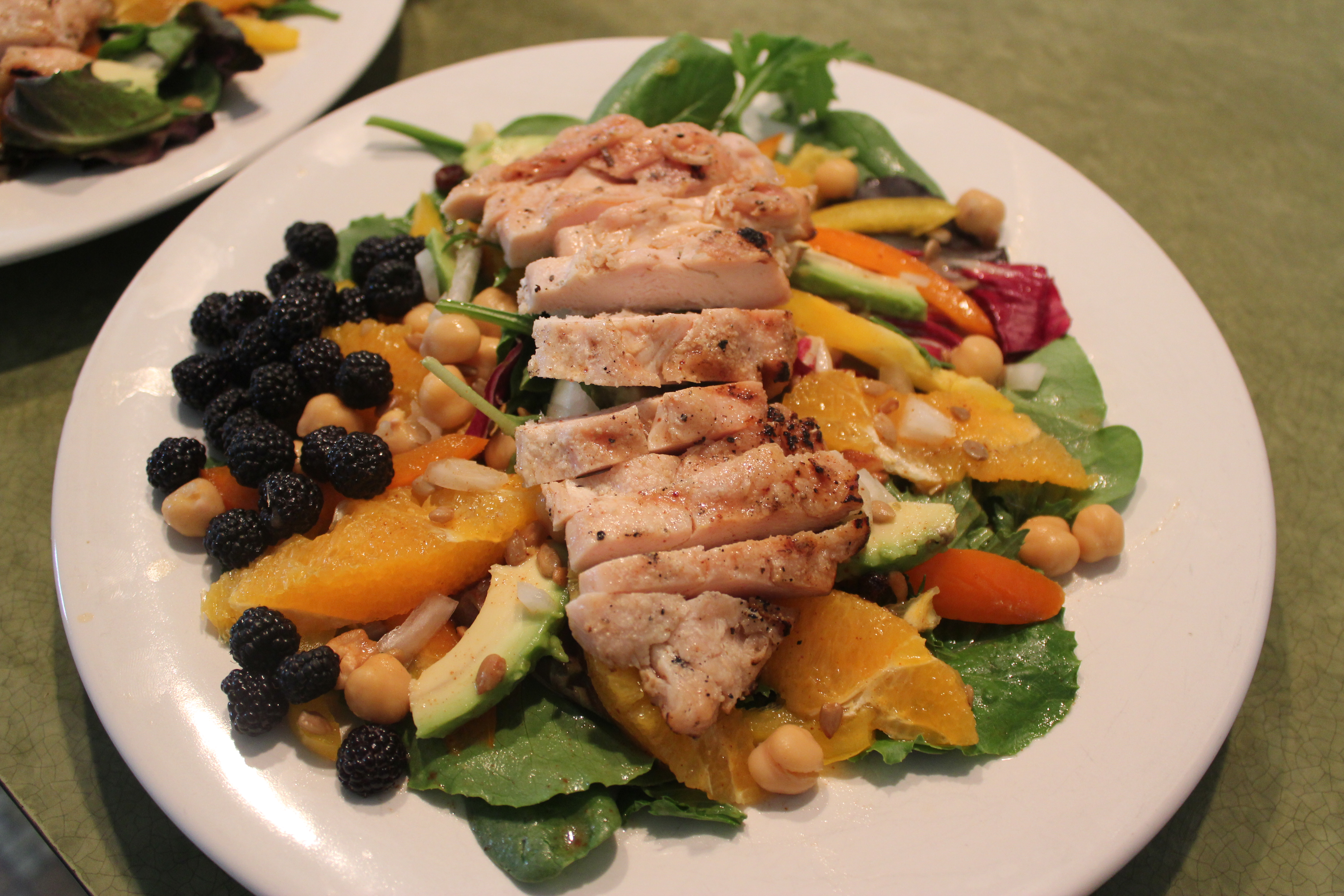 Orange Spice Grilled Chicken Mixed Greens Salad   Red Fox Fitness