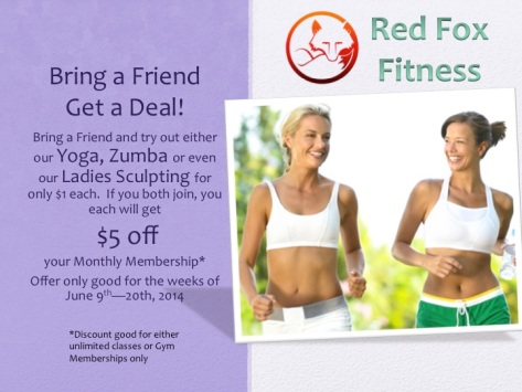 Bring a Friend Deal @Red Fox Fitness Gym!