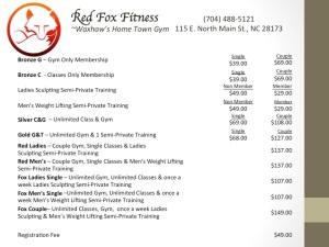Pricing Sheet - Aug 2014