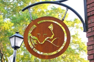 Red Fox Metal Sign